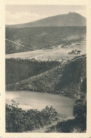 Am großen Teich mit Hampelbaude und Schneekoppe [Dokument ikonograficzny]