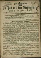 Die Post aus dem Riesengebirge, 1880, nr 0