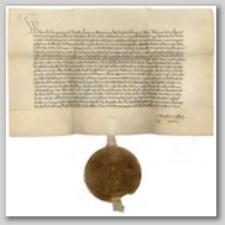 Dokument Wacława, króla rzymskiego i czeskiego, stwierdzający przekazanie praw do dóbr w Cieplicach, Kowarach i do lasu koło Jeleniej Góry