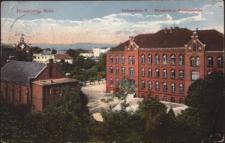 Hirschberg, Schl. Volksschule II, Turnhalle u. Gnadenkirche [Dokument ikonograficzny]