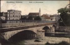 Hirschberg i. Schlesien Partie a. d. Boberbrücke [Dokument ikonograficzny]