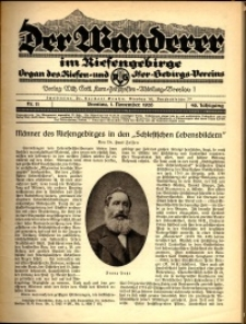 Der Wanderer im Riesengebirge, 1926, nr 11