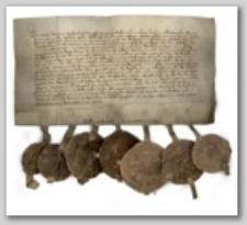 Dokument Agnieszki, księżnej Śląska, pani na Książu, Świdnicy i Jaworze potwierdzający sprzedaż folwarku położonego między Twardzielem (Harte) a Jelenią Górą