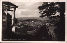 Hirschberg i. Riesengebirge. Blick v. Helikon [Dokument ikonograficzny]