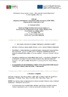 Biogramy jeleniogórzan w początkach doby nowożytnej (1500-1800) - propozycje dla poszukiwań w sieci [Dokument ikonograficzny]