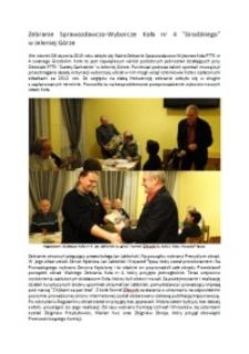 """Zebranie Sprawozdawczo-Wyborcze Koła nr 4 """"Grodzkiego"""" w Jeleniej Górze [Dokument elektroniczny]"""