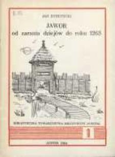 Jawor od zarania dziejów do roku 1263 [Dokument elektroniczny]
