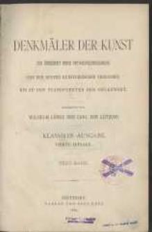 Denkmäler der Kunst zur Übersicht ihres Entwickelungsganges von den ersten künstlerischen Versuchen bis zu den Standpunkten der Gegenwart.
