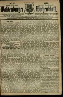 Waldenburger Wochenblatt, Jg. 34, 1888, nr 34