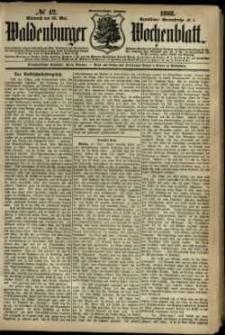 Waldenburger Wochenblatt, Jg. 34, 1888, nr 42