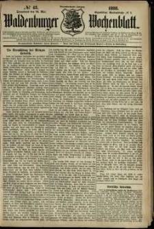 Waldenburger Wochenblatt, Jg. 34, 1888, nr 43