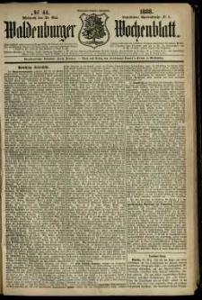 Waldenburger Wochenblatt, Jg. 34, 1888, nr 44