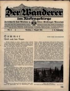 Der Wanderer im Riesengebirge, 1931, nr 8
