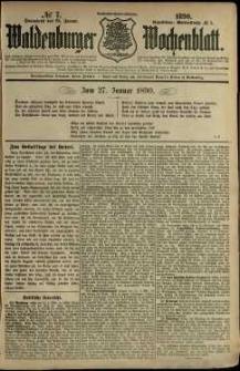 Waldenburger Wochenblatt, Jg. 36, 1890, nr 7