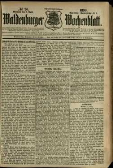 Waldenburger Wochenblatt, Jg. 36, 1890, nr 26