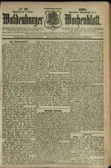 Waldenburger Wochenblatt, Jg. 36, 1890, nr 28