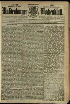 Waldenburger Wochenblatt, Jg. 36, 1890, nr 32