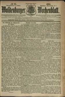 Waldenburger Wochenblatt, Jg. 36, 1890, nr 81