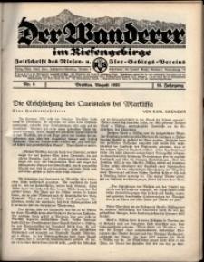 Der Wanderer im Riesengebirge, 1932, nr 8