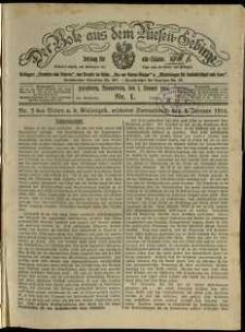 Der Bote aus dem Riesen-Gebirge : Zeitung für alle Stände, R. 102, 1914, nr 1