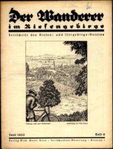 Der Wanderer im Riesengebirge, 1933, nr 6