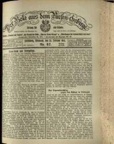 Der Bote aus dem Riesen-Gebirge : Zeitung für alle Stände, R. 102, 1914, nr 47
