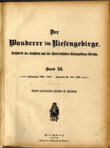 Der Wanderer im Riesengebirge, 1909-1910, Band 12