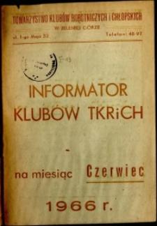 Informator Klubów TKRiCH, czerwiec 1966