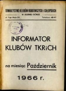 Informator Klubów TKRiCH, październik 1966