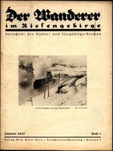 Der Wanderer im Riesengebirge, 1937, nr 1