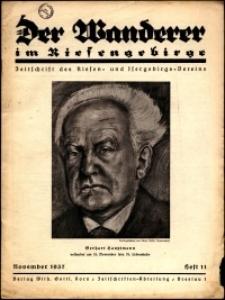 Der Wanderer im Riesengebirge, 1937, nr 11