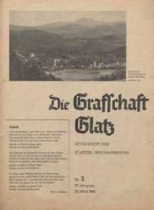 Die Grafschaft Glatz : Illustrierte Zeitschrift des Glatzer Gebirgsvereins, Jr. 37, 1942, nr 2