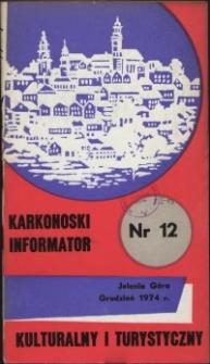 Karkonoski Informator Kulturalny i Turystyczny, 1974, nr 12 (94)