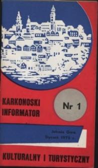 Karkonoski Informator Kulturalny i Turystyczny, 1975, nr 1 (95)