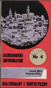 Karkonoski Informator Kulturalny i Turystyczny, 1975, nr 4 (98)