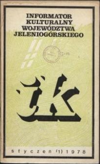 Informator Kulturalny Województwa Jeleniogórskiego, 1978, nr 1