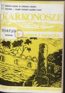 Karkonosze: Kultura i Turystyka, 1989, nr 11 (147)