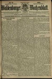 Waldenburger Wochenblatt, Jg. 38, 1892, nr 17