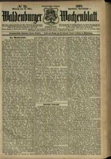 Waldenburger Wochenblatt, Jg. 38, 1892, nr 24