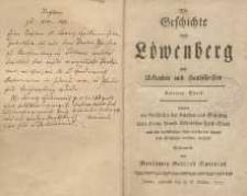 Die Geschichte von Löwenberg aus Urkunden und Handschriften. Zweiter Theil