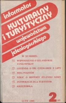 Informator Kulturalny i Turystyczny Województwa Jeleniogórskiego, 1983, nr 2