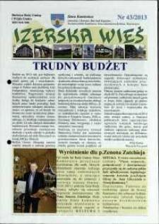 Izerska Wieś : Biuletyn Rady Gminy i Wójta Gminy, 2013, nr 43
