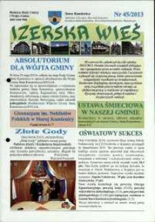 Izerska Wieś : Biuletyn Rady Gminy i Wójta Gminy, 2013, nr 45