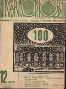 Karkonosze : Informator Kulturalny i Turystyczny Województwa Jeleniogórskiego, 1985, nr 12 (100)
