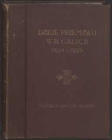 Dzieje przemysłu w b. Galicji 1804-1929 : ze szczególnym uwzględnieniem historii rozwoju S.A. L. Zieleniewski i Fitzner-Gamper : wydawnictwo z okazji 125-letniego jubileuszu