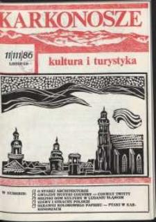 Karkonosze : Kultura i Turystyka, 1986, nr 11 (111)