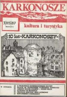 Karkonosze : Kultura i Turystyka, 1987, nr 3 (115)