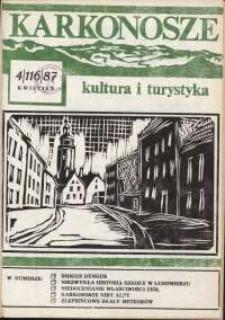 Karkonosze : Kultura i Turystyka, 1987, nr 4 (116)