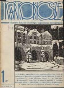 Karkonosze: Informator Kulturalny i Turystyczny Województwa Jeleniogórskiego, 1984, nr 1 (77)