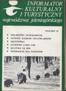 Informator Kulturalny i Turystyczny Województwa Jeleniogórskiego, 1981, nr 1